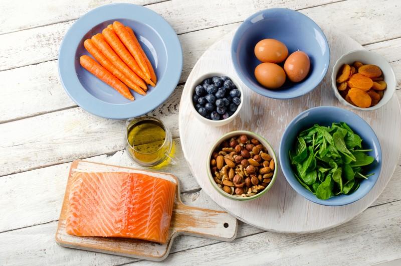 photo table nourriture saine DMLA age